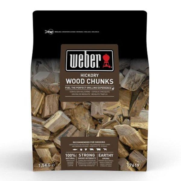 Trozos de madera para ahumar de hickory