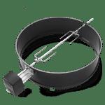 asador giratoria para barbacoa de carbon weber