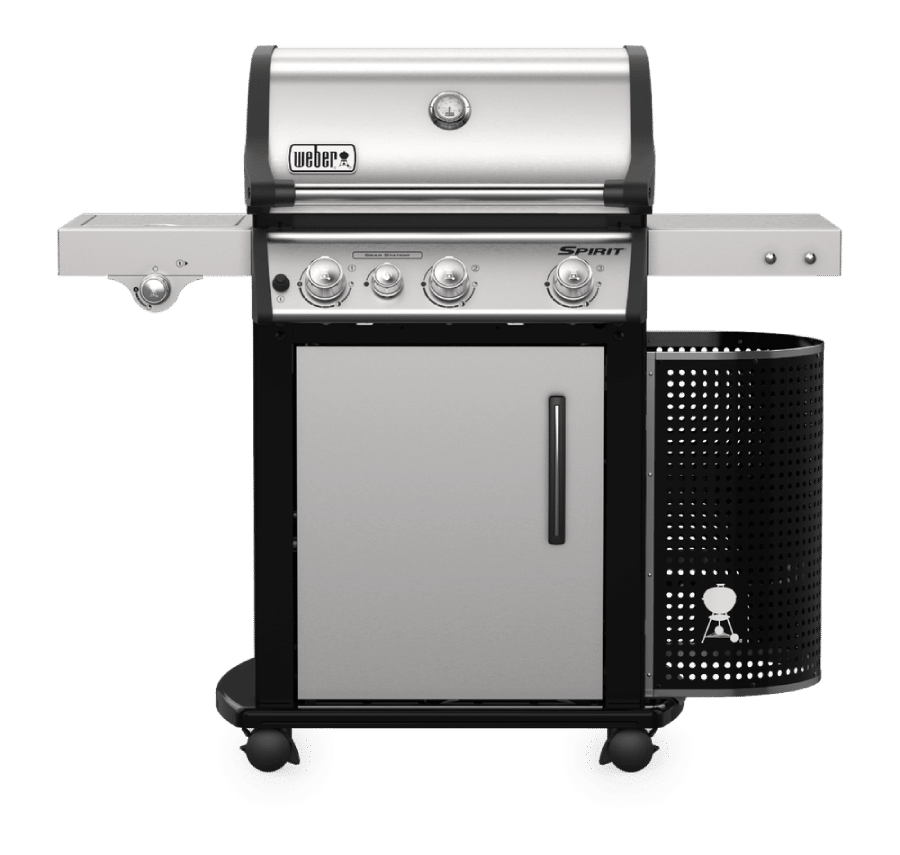 barbacoa de gas spirit premium acero inoxidable