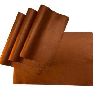 Mantel de cuero marrón Ofyr